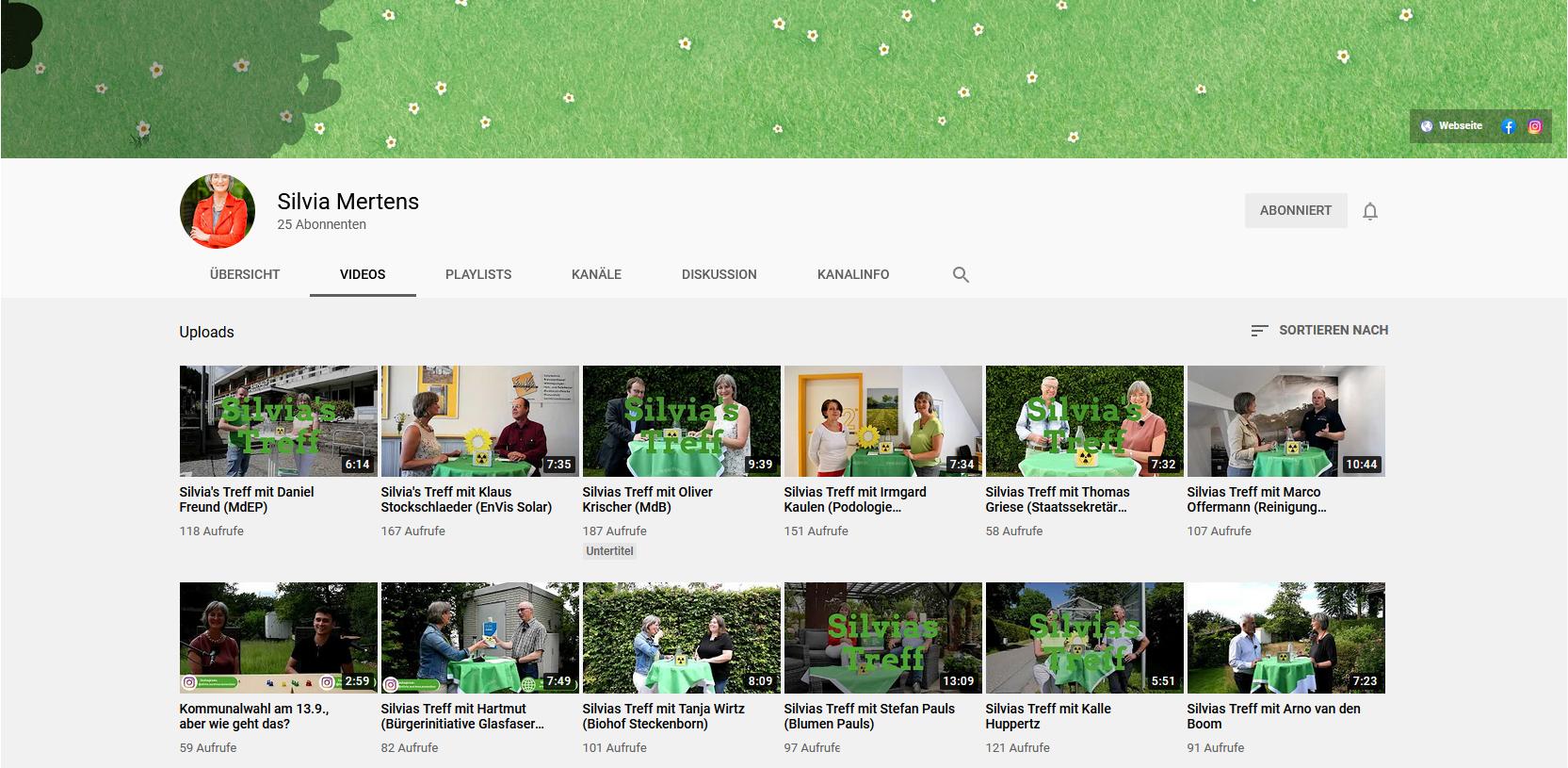 Silvias Treff auf YouTube