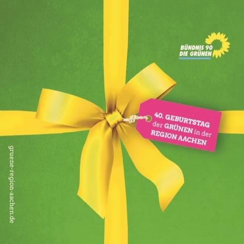 Geburtstagsfeier 40 Jahre Grüne Region Aachen mit Annalena Baerbock